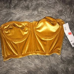 Urban outfitters cropped corset.